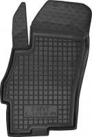 Коврик в салон водительский для Fiat Linea '07-15 резиновый, черный (AVTO-Gumm)