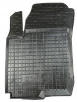 Коврик в салон водительский для Hyundai Elantra HD '06-10 резиновый, черный (AVTO-Gumm)