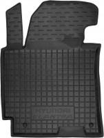 Коврик в салон водительский для Hyundai Elantra MD '14-15 резиновый, черный (AVTO-Gumm)
