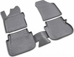 Коврики в салон для Volkswagen Caddy '04-15, 3 дв. полиуретановые (Novline / Element)
