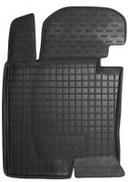 Коврик в салон водительский для Hyundai Sonata '10-15 резиновый, черный (AVTO-Gumm)