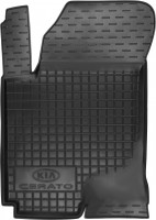 Коврик в салон водительский для Kia Cerato '04-09 резиновый, черный (AVTO-Gumm)