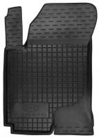 Коврик в салон водительский для Kia Cerato '09-13 резиновый, черный (AVTO-Gumm)