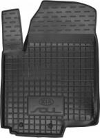 Коврик в салон водительский для Kia Soul '09-13 резиновый, черный (AVTO-Gumm)