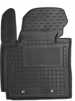 Коврик в салон водительский для Kia Soul '14- резиновый, черный (AVTO-Gumm)