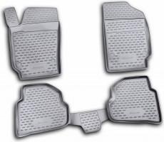 Коврики в салон для Volkswagen Polo '10-, седан полиуретановые (Novline / Element)