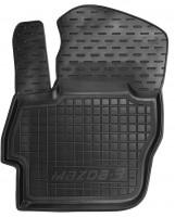 Коврик в салон водительский для Mazda 3 '09-13 резиновый, черный (AVTO-Gumm)