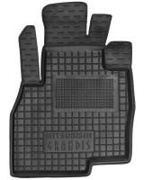 Коврик в салон водительский для Mitsubishi Grandis '03-11 резиновый, черный (AVTO-Gumm)