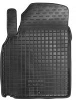 Коврик в салон водительский для Nissan Almera Classic 06-13 резиновый, черный (AVTO-Gumm)