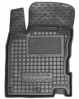 Коврик в салон водительский для Nissan Qashqai '14- резиновый, черный (AVTO-Gumm)