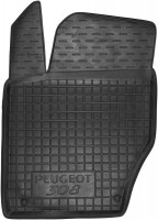 Коврик в салон водительский для Peugeot 308 '08-13 резиновый, черный (AVTO-Gumm)