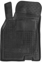Коврик в салон водительский для Renault Fluence '09- резиновый, черный (AVTO-Gumm)