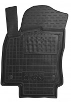 Коврик в салон водительский для Seat Leon '12- резиновый, черный (AVTO-Gumm)