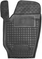 Коврик в салон водительский для Skoda Fabia II '07-14 резиновый, черный (AVTO-Gumm)