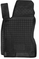 Коврик в салон водительский для Skoda Superb '02-08 резиновый, черный (AVTO-Gumm)