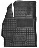 Коврик в салон водительский для Toyota Auris '06-12 резиновый, черный (AVTO-Gumm)