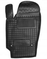 Коврик в салон водительский для Volkswagen Polo '10- седан резиновый, черный (AVTO-Gumm)