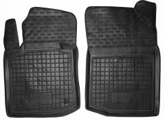 Коврики в салон передние для BYD F0 '08- резиновые, черные (AVTO-Gumm)