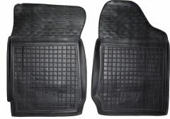 Коврики в салон передние для BYD F3 '05- резиновые, черные (AVTO-Gumm)  АКПП