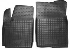Коврики в салон передние для Chery M11 '08- резиновые, черные (AVTO-Gumm)