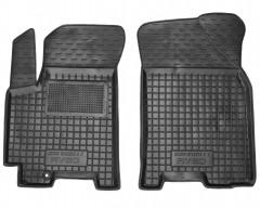 Коврики в салон передние для Chevrolet Aveo '06-11 резиновые, черные (AVTO-Gumm)