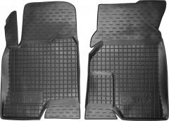 Коврики в салон передние для Chevrolet Captiva '06- резиновые, черные (AVTO-Gumm)