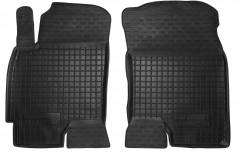 Коврики в салон передние для Chevrolet Evanda '03-06 резиновые, черные (AVTO-Gumm)