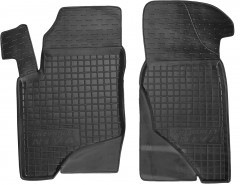 Коврики в салон передние для Chevrolet Niva '02- резиновые, черные (AVTO-Gumm)