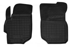 Коврики в салон передние для Citroen C-Elysee '13- резиновые, черные (AVTO-Gumm)