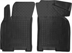 Коврики в салон передние для Daewoo Gentra '13- резиновые, черные (AVTO-Gumm)