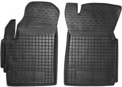 Коврики в салон передние для Daewoo Matiz '01- резиновые, черные (AVTO-Gumm)