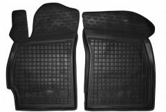 Коврики в салон передние для Daewoo Nubira '97-99 резиновые, черные (AVTO-Gumm)
