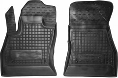 Коврики в салон передние для Fiat 500L '13- резиновые, черные (AVTO-Gumm)