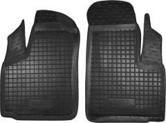Коврики в салон передние для Fiat Doblo '01-09 резиновые, черные (AVTO-Gumm)