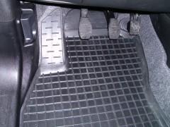 Коврики в салон передние для Fiat Doblo '10- резиновые, черные (AVTO-Gumm)