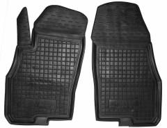 Коврики в салон передние для Fiat Punto '00-11 резиновые, черные (AVTO-Gumm)