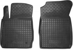 Коврики в салон передние для Ford Fiesta '09-17 резиновые, черные (AVTO-Gumm)