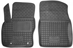 Коврики в салон передние для Ford Focus II '04-11 резиновые, черные (AVTO-Gumm)