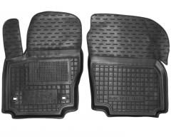 Коврики в салон передние для Ford Mondeo '07-14 резиновые, черные (AVTO-Gumm)