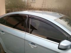 Дефлекторы окон для Ford Mondeo '07-14, седан (Cobra)