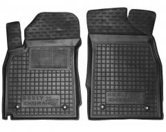 Коврики в салон передние для Geely Emgrand X7 '13- резиновые, черные (AVTO-Gumm)