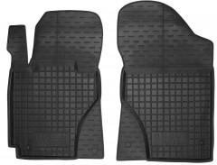 Коврики в салон передние для Geely MK Sedan '06-14 резиновые, черные (AVTO-Gumm)