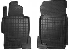 Коврики в салон передние для Honda Accord 7 '03-08 резиновые, черные (AVTO-Gumm)