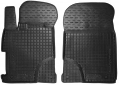 Коврики в салон передние для Honda Civic 4D '12- резиновые, черные (AVTO-Gumm)