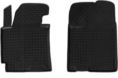 Коврики в салон передние для Hyundai Elantra HD '06-10 резиновые, черные (AVTO-Gumm)