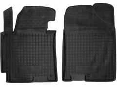 Коврики в салон передние для Hyundai Elantra MD '11-15 резиновые, черные (AVTO-Gumm)