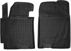 Коврики в салон передние для Hyundai Elantra MD '14-15 резиновые, черные (AVTO-Gumm)