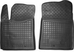 Коврики в салон передние для Hyundai i-10 '14- резиновые, черные (AVTO-Gumm)