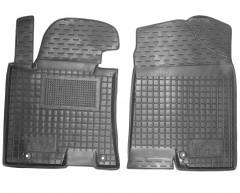 Коврики в салон передние для Hyundai i30 GD '13-16 резиновые, черные (AVTO-Gumm)