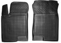 Коврики в салон передние для Hyundai Sonata '05-10 резиновые, черные (AVTO-Gumm)